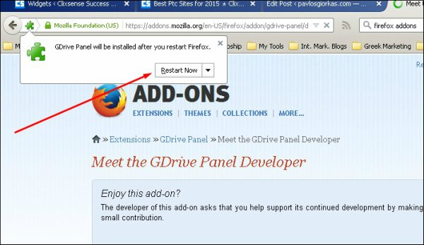 installing firefox addons step 5
