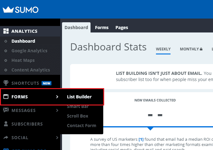 sumo list builder
